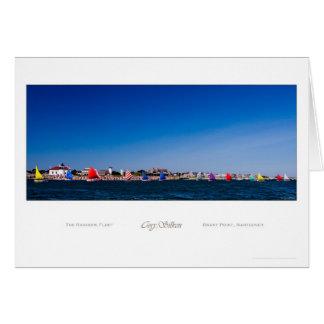 The Rainbow Fleet, Nantucket Greeting Card