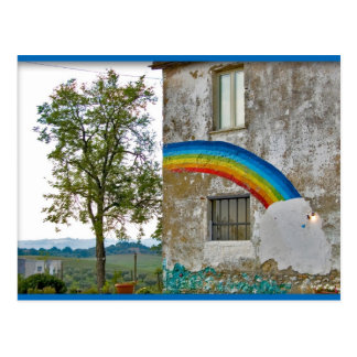 The rainbow postcard
