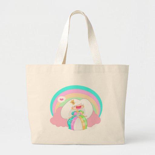 The Rainbow Princess Jumbo Tote Bag