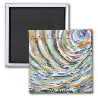 The Rainbow's Journey 2 Inch Square Magnet