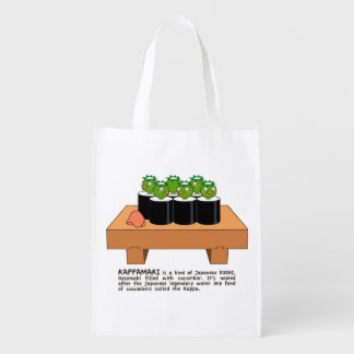 < The raincoat it winds (English version) > Reusable Grocery Bag