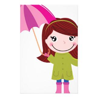 The Rainy girl t-shirts Stationery