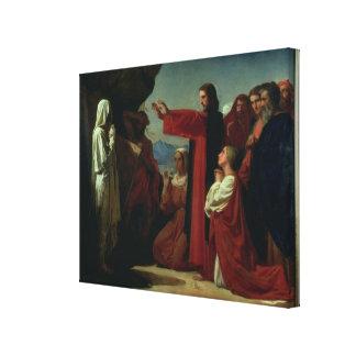 The Raising of Lazarus, 1857 Canvas Print