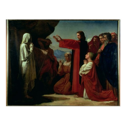 The Raising of Lazarus, 1857 Post Card
