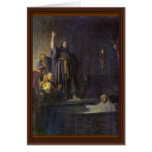 The Raising Of Lazarus. By Rembrandt Van Rijn Greeting Card