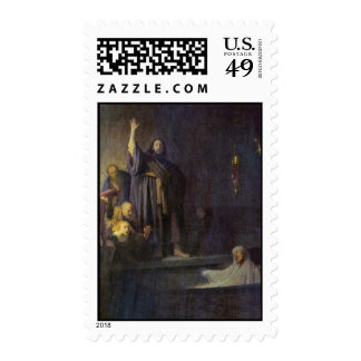 The Raising Of Lazarus. By Rembrandt Van Rijn Stamp