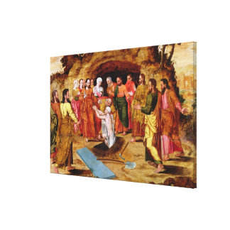 The Raising of Lazarus Stretched Canvas Print