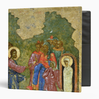 The Raising of Lazarus, Russian icon 3 Ring Binder