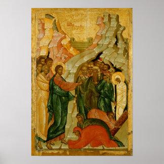 The Raising of Lazarus Russian icon Print