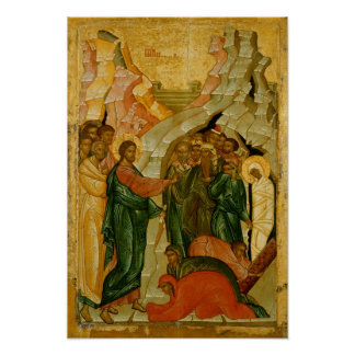 The Raising of Lazarus, Russian icon Poster