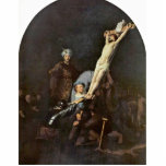 "The Raising Of The Cross. By Rembrandt Van Rijn Cutout<br><div class=""desc"">The Raising Of The Cross. By Rembrandt Van Rijn The Raising Of The Cross. is a work Of The Famous Artist, Rembrandt Van Rijn . Drawn around Ca. 1633 Using Oil On Canvas Technique and is located now at Alte Pinakothek . Visit Our Store, Zazzle.Com/Artcollection For More Sandby Paul Art...</div>"