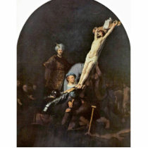 The Raising Of The Cross. By Rembrandt Van Rijn Cutout