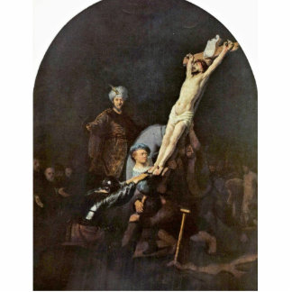 The Raising Of The Cross. By Rembrandt Van Rijn Cut Outs