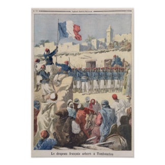 The Raising of the French Flag at Timbuktu Poster