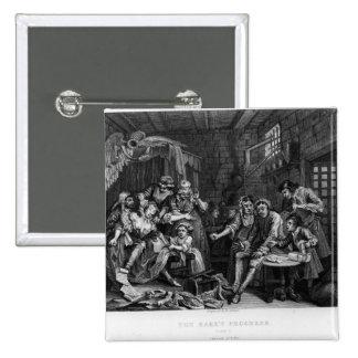 The Rake in Prison, plate VII Button