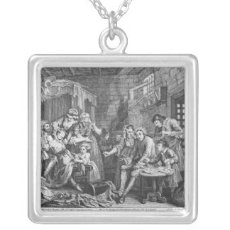 The Rake in Prison Silver Plated Necklace