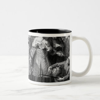 The Rake's Levee, plate II Two-Tone Coffee Mug