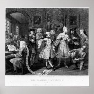 The Rake's Levee, plate II Print