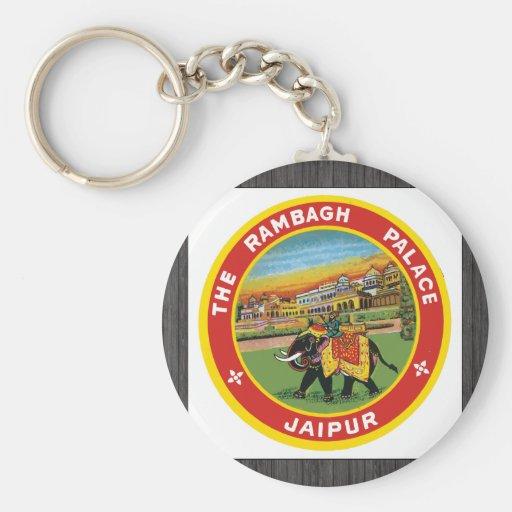 The Rambagh Palace Jaipur, Vintage Basic Round Button Keychain