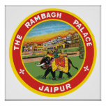 The Rambagh Palace Jaipur, Vintage Poster