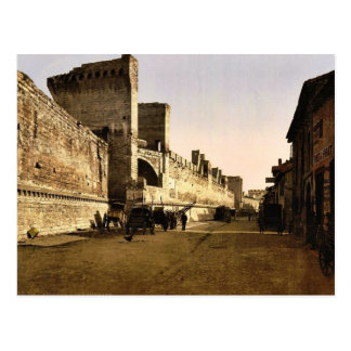 The ramparts, Avignon, Provence, France classic Ph Postcard