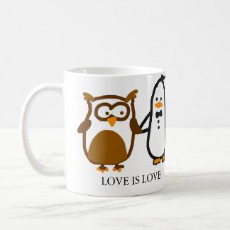 "The Random Penguins MUG - ""LOVE IS LOVE"""