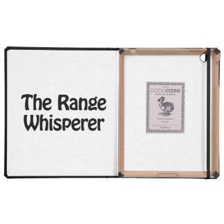 the range whisperer iPad case