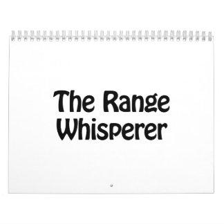 the range whisperer calendar
