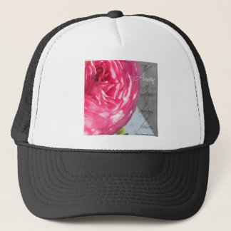The Ranunculus Amen Flower Trucker Hat
