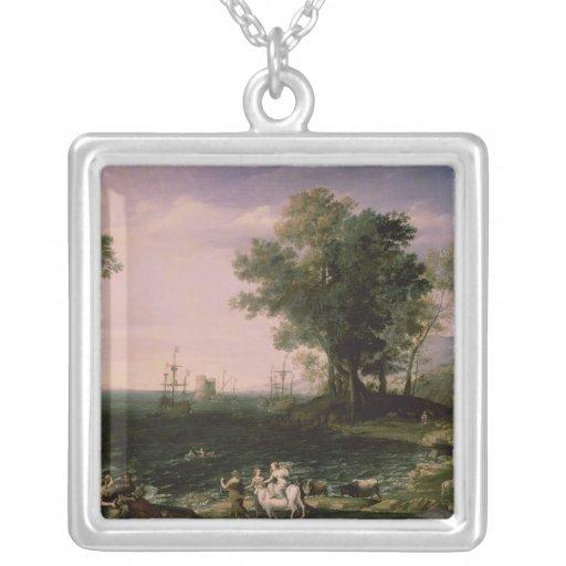 The Rape of Europa, 1655 Square Pendant Necklace