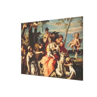 The Rape of Europa (oil on canvas) Canvas Print