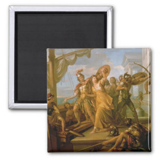 The Rape of Helen, 1770s 2 Inch Square Magnet