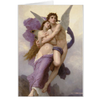 The Rapture of Psyche by William Bouguereau Card