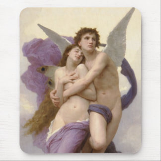 The Rapture of Psyche by William Bouguereau Mouse Pad