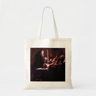 The rapture of St. Francis by Georges de La Tour Tote Bag