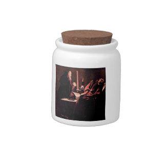 The rapture of St. Francis by Georges de La Tour Candy Jar