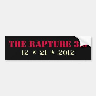 The RAPTURE Version 3.0  Bumper Sticker (Black)