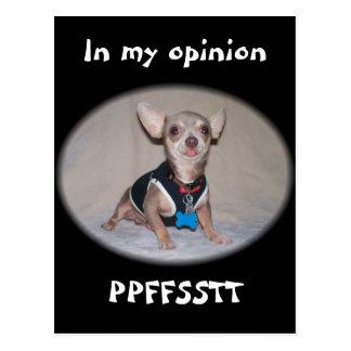 The Raspberry Opinion Postcard