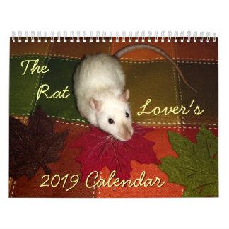 The Rat Lover's Calendar: 2019 Calendar