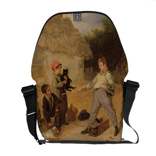 The Rat Trap (oil on panel) Courier Bag