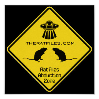 The Ratfiles Abduction Zone Poster