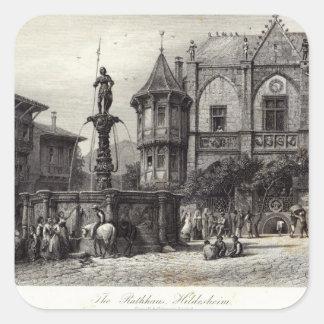 The Rathhaus, Hildesheim Square Sticker