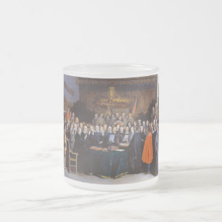 The Ratification of the Treaty of Münster 1648 Frosted Glass Coffee Mug