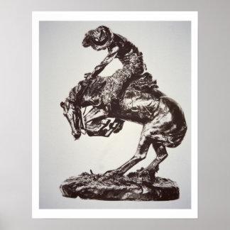 The Rattlesnake, 1905 (bronze) (b/w photo) Poster