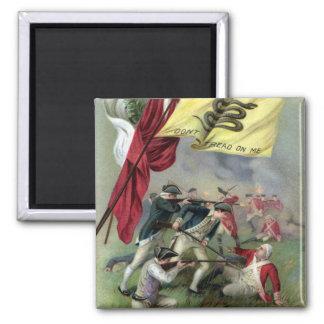 The Rattlesnake Flag at Bunker Hill Battle 2 Inch Square Magnet
