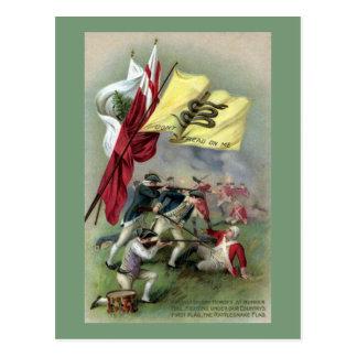 The Rattlesnake Flag at Bunker Hill Battle Postcard