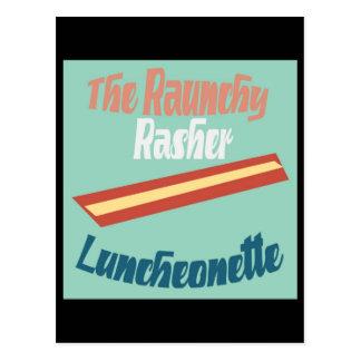 The Raunchy Rasher Luncheonette Postcard