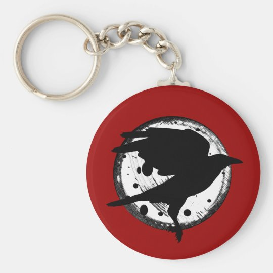 The Raven and the Moon Keychain