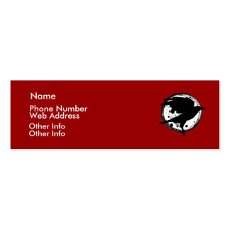 The Raven and the Moon Profile Card Business Cards