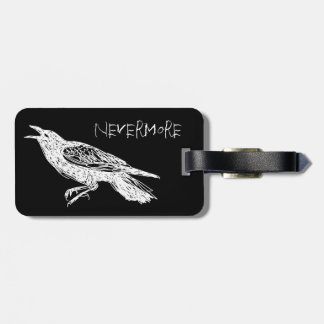 The Raven, Black and White Bag Tag